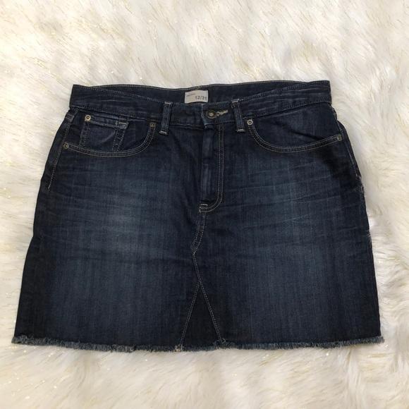 GAP Dresses & Skirts - Gap Dark Blue Denim Skirt 12/31